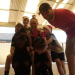 Kristy & family with their rottweilers