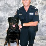 Viper and his police handler Tim